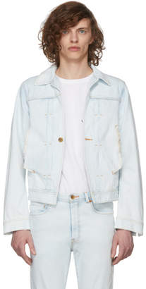 Bobson Wheir Blue Denim High Bleach Layered Jacket