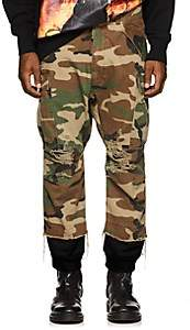 R 13 Men's Harem Camouflage Cotton Cargo Pants - Olive