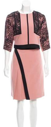 J. Mendel Lace-Accented Silk Skirt Set