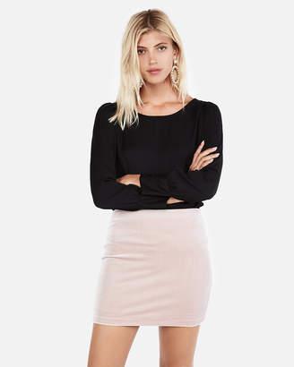 Express High Waisted Velvet Mini Skirt