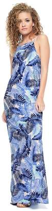 Juicy Couture Palm Leaves Crepe Dress