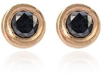 Jelena Behrend Bullet tube and diamond stud earrings