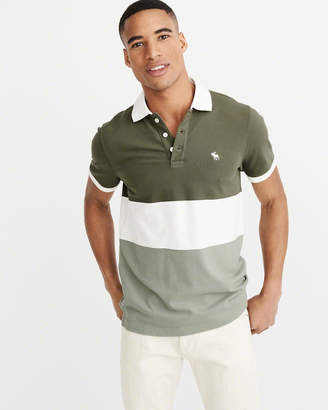 Abercrombie & Fitch Colorblock Icon Polo