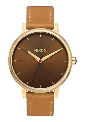 Nixon Women's 'Kensington Leather' Quartz Stainless Steel Casual Watch