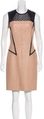 Jason Wu Leather Sheath Dress