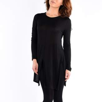 Dex Long Sleeve Knit Tunic Front Side Slits