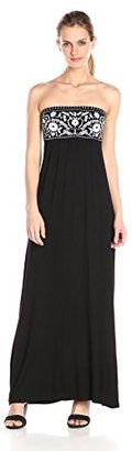 Design History Women's Embroidered Maxi $50.40 thestylecure.com