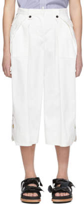 Sacai White Cropped Trousers