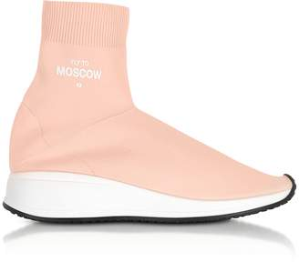 Joshua Sanders Fly To Moscow Pink Nylon Sock Unisex Sneakers