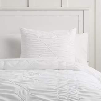 Pottery Barn Teen Textural Diamond Comforter, Twin/Twin XL, White