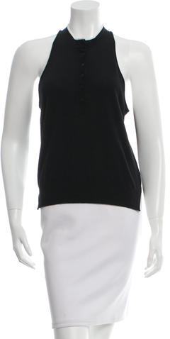 T by Alexander Wang Rib Knit Button-Up Top w/ Tags