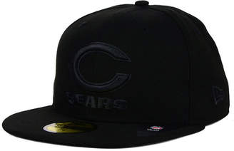 5fb656b61 New Era Chicago Bears Nfl Black on Black 59FIFTY Fitted Cap
