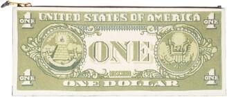 Moschino Large One Dollar Bill Zip Clutch