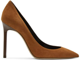 Saint Laurent Tan Suede Anja Heels
