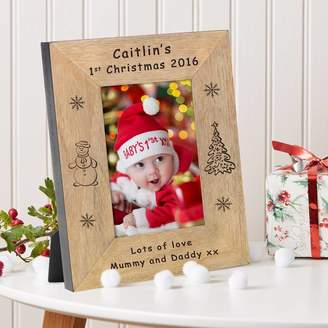 BabyFish Baby's 1st Christmas Photo Frame