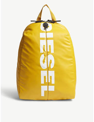 Diesel Gold and White Logo Backpack