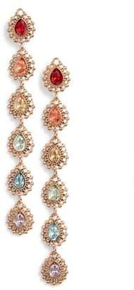 Stella + Ruby Ombre Crystal Drop Earrings