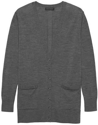 Banana Republic Machine-Washable Merino Wool Boyfriend Cardigan Sweater