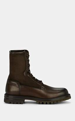 Barneys New York Men's Shearling-Lined Leather Boots - Dk. brown