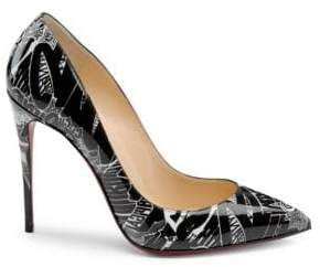 Christian Louboutin Pigalle Follies 100 Printed Patent Leather Pumps