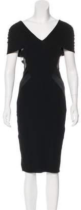 Alexandre Vauthier Short Sleeve Knee-Length Dress