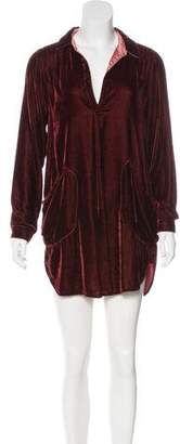 Free People Velvet Long Sleeve Dress