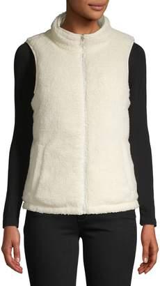 Core Life Reversible Zip-Front Faux Fur Vest