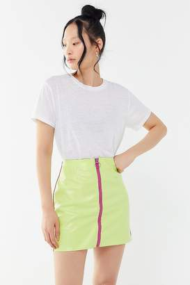 Urban Outfitters Lena Patent Zip-Front Mini Skirt