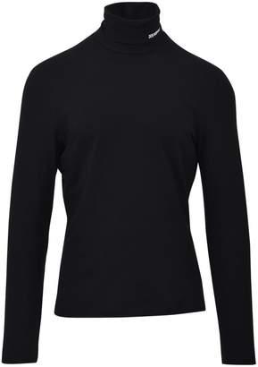 Calvin Klein Black Logoed Turtleneck