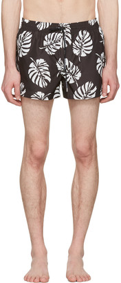 Dolce & Gabbana Black Leaf Swim Shorts $445 thestylecure.com