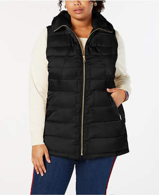 Charter Club Faux Fur Quilted Vest