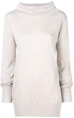 Eleventy funnel neck knitted sweatshirt