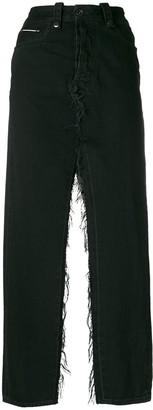 Unravel Project double slits denim skirt