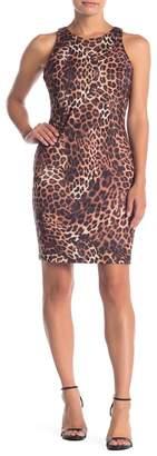Alexia Admor Daphne Jewel Neck Leopard Print Dress