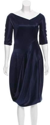 Alexander McQueen Silk Midi Dress