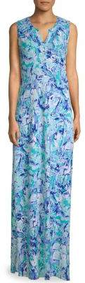 Lilly Pulitzer Essie Printed-Sleeve Maxi Dress