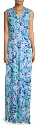 Lilly Pulitzer Essie Printed-Sleeve Maxi Dress