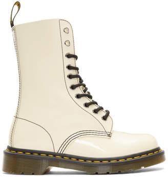 a6ea83b7561 Marc Jacobs Beige Redux Grunge Patent 1490 Boots