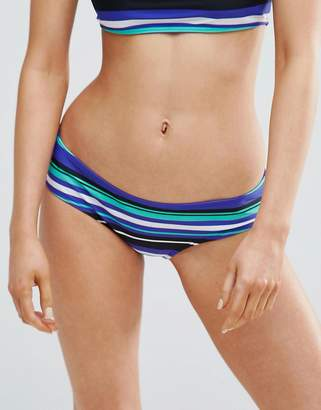 Noisy May Tan Lines Stripe Mid Rise Bikini Bottom
