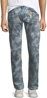 Robin's Jeans Camouflage-Print Straight-Leg Jeans
