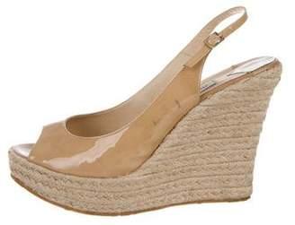 ef3316c7756c Jimmy Choo Patent Leather Wedge Sandal - ShopStyle