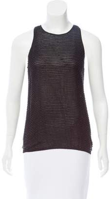L'Agence Beaded Sleeveless Top