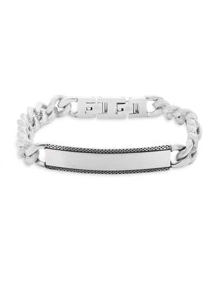 Lotus Men's Chained Stainless Steel Bracelet