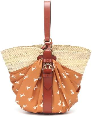 Chloé Panier raffia shoulder bag