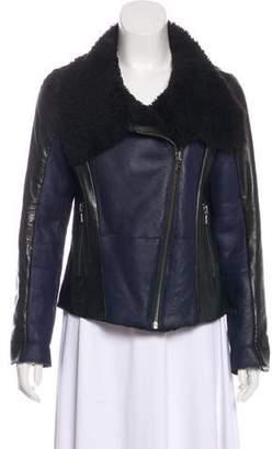 Gerard Darel Wool Leather Jacket