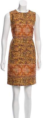 Dolce & Gabbana Mosaic Wool-Blend Dress