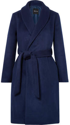 Madewell Belted Wool-blend Felt Coat