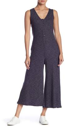 Lush Front Button Knit Jumpsuit