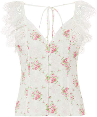 Nightcap Clothing Eliza Eyelet Floral Top