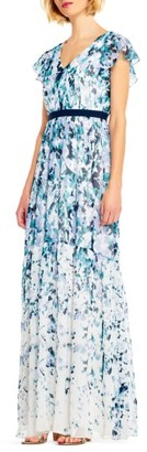 Women's Adrianna Papell Floral Print Chiffon Gown $160 thestylecure.com